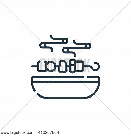 BBQ grill icon isolated on white background from celebration collection. BBQ grill icon thin line ou