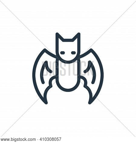 bat icon isolated on white background from coronavirus collection. bat icon thin line outline linear