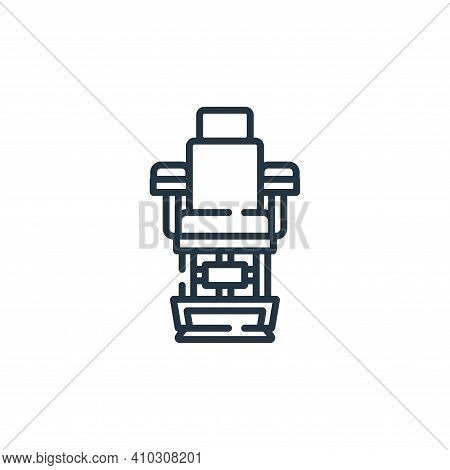 barber chair icon isolated on white background from hairdressing and barber shop collection. barber