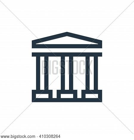 bank icon isolated on white background from payment collection. bank icon thin line outline linear b