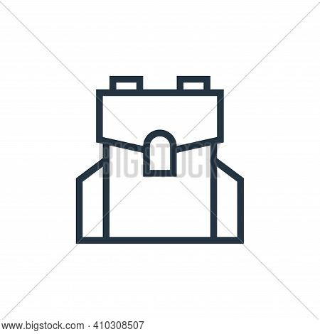 bag icon isolated on white background from education collection. bag icon thin line outline linear b