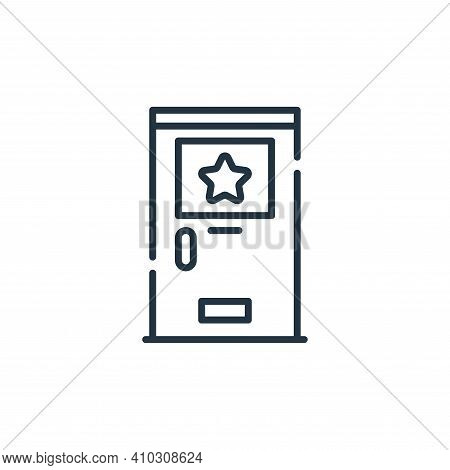 backstage icon isolated on white background from fame collection. backstage icon thin line outline l