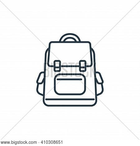 backpack icon isolated on white background from clothes and outfit collection. backpack icon thin li