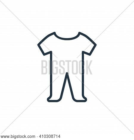 baby cloth icon isolated on white background from wardrobe collection. baby cloth icon thin line out