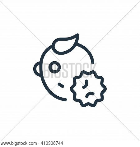 baby icon isolated on white background from coronavirus collection. baby icon thin line outline line