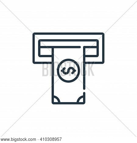 atm icon isolated on white background from banking and money collection. atm icon thin line outline