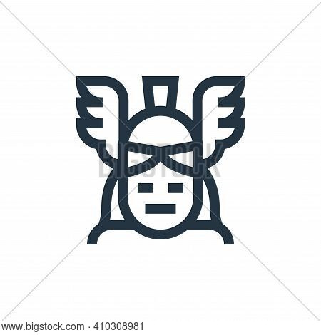 athena icon isolated on white background from fantastic characters collection. athena icon thin line