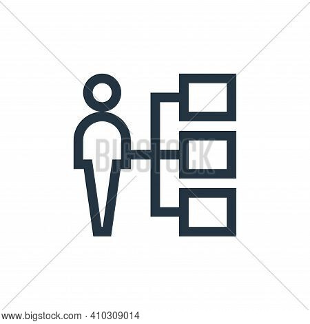 assignment icon isolated on white background from job resume collection. assignment icon thin line o