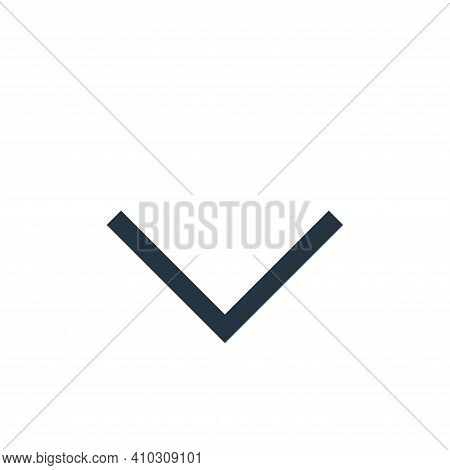arrow down icon isolated on white background from user interface collection. arrow down icon thin li