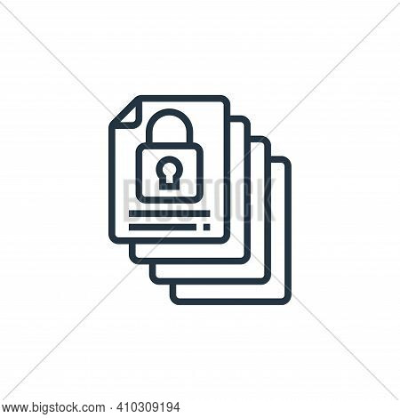 archive icon isolated on white background from confidential information collection. archive icon thi