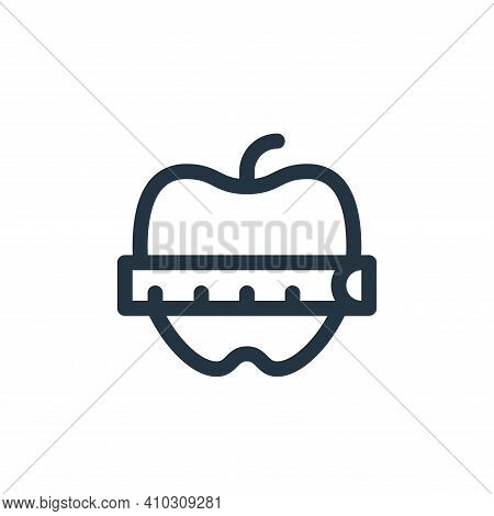apple icon isolated on white background from pilates collection. apple icon thin line outline linear