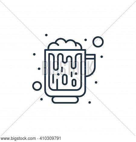 alcohol icon isolated on white background from saint patrick collection. alcohol icon thin line outl