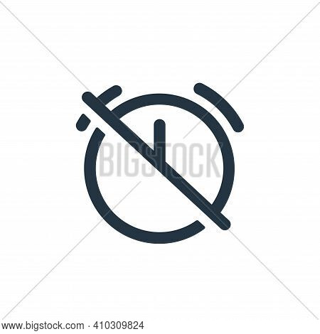 alarm icon isolated on white background from business collection. alarm icon thin line outline linea