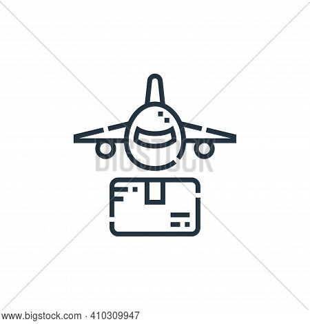 airplane icon isolated on white background from delivery collection. airplane icon thin line outline
