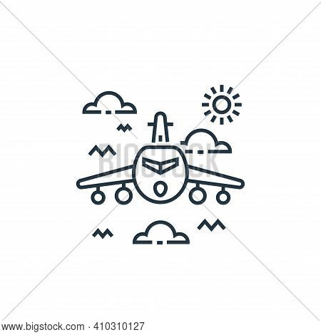 aeroplane icon isolated on white background from tourism collection. aeroplane icon thin line outlin