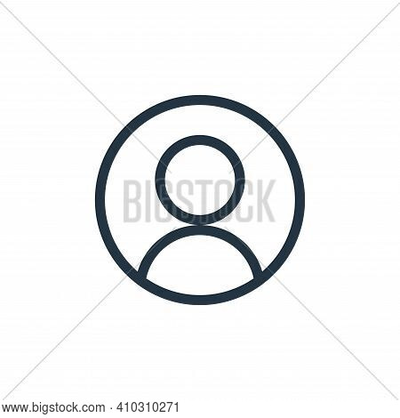 account icon isolated on white background from technology collection. account icon thin line outline