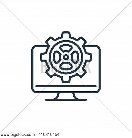 web management icon isolated on white background from management collection. web management icon thi
