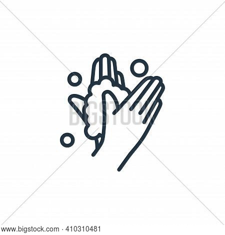 washing hand icon isolated on white background from covid collection. washing hand icon thin line ou