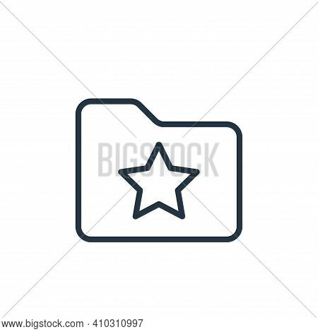 starred icon isolated on white background from folder collection. starred icon thin line outline lin