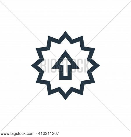 sale icon isolated on white background from marketing and growth collection. sale icon thin line out