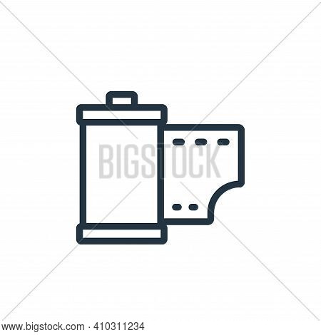 roll icon isolated on white background from photography collection. roll icon thin line outline line