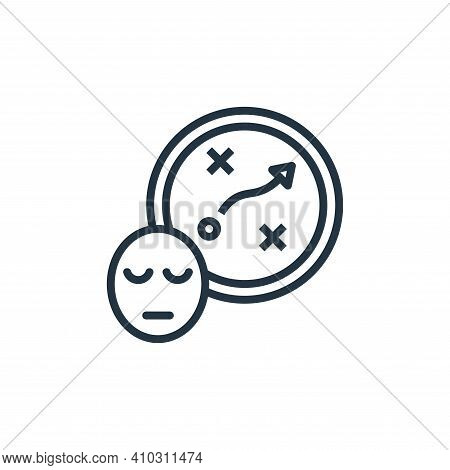 planning icon isolated on white background from work life balance collection. planning icon thin lin