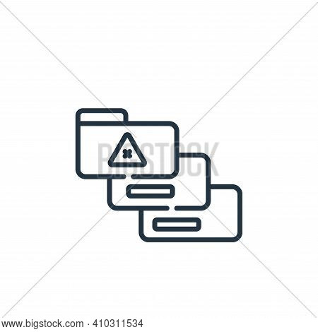 personal data icon isolated on white background from hacker collection. personal data icon thin line