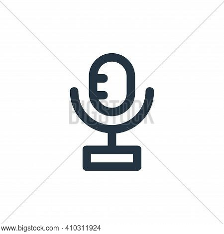 microphone icon isolated on white background from user interface collection. microphone icon thin li