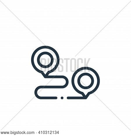 location icon isolated on white background from online shopping collection. location icon thin line