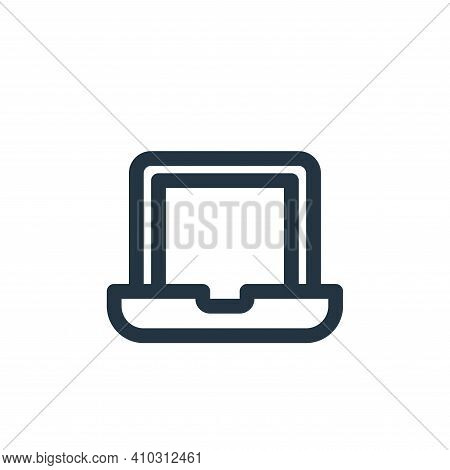 laptop icon isolated on white background from user interface collection. laptop icon thin line outli