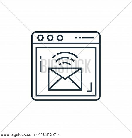 email icon isolated on white background from technology devices collection. email icon thin line out