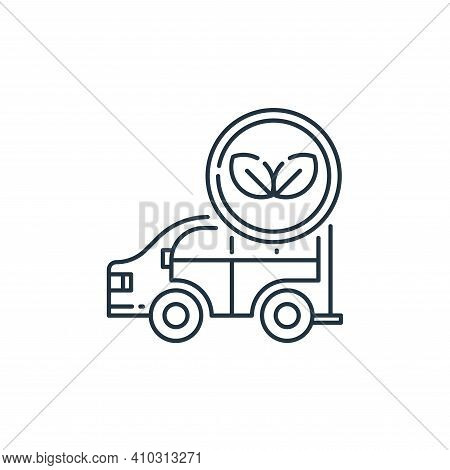 eco car icon isolated on white background from mother earth day collection. eco car icon thin line o