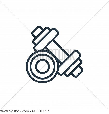 dumbbells icon isolated on white background from fitness collection. dumbbells icon thin line outlin