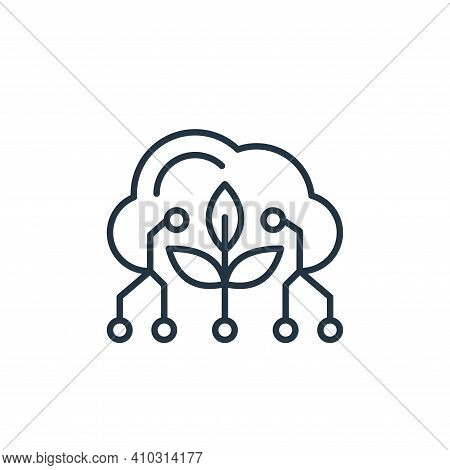 cloud icon isolated on white background from smart farm collection. cloud icon thin line outline lin