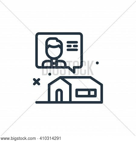 chat icon isolated on white background from work from home collection. chat icon thin line outline l