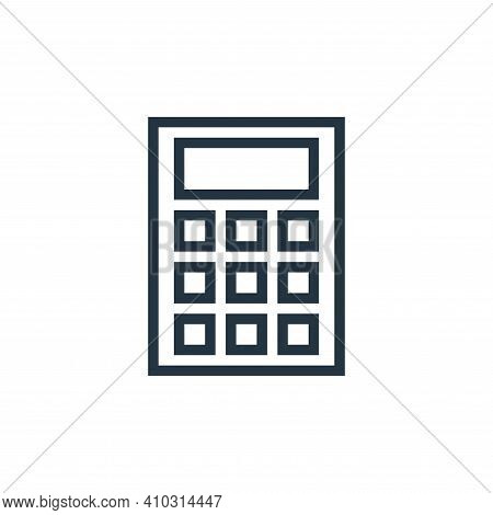 calculate icon isolated on white background from education collection. calculate icon thin line outl