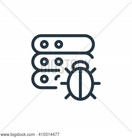bug icon isolated on white background from work office server collection. bug icon thin line outline