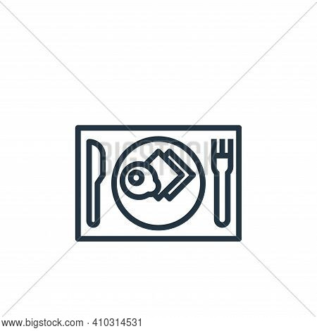 breakfast icon isolated on white background from hotel collection. breakfast icon thin line outline