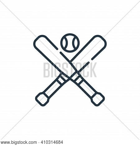 baseball icon isolated on white background from baseball collection. baseball icon thin line outline