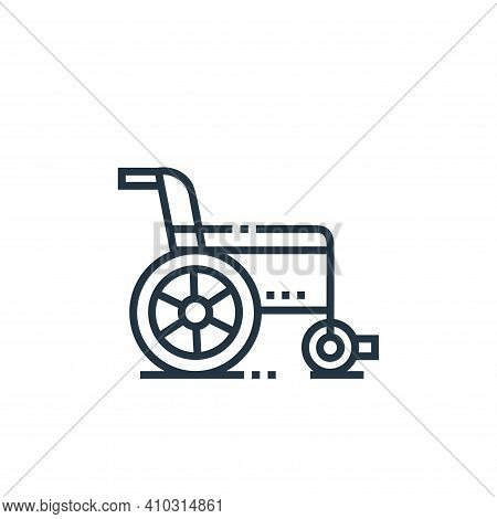 wheelchair icon isolated on white background from medical services collection. wheelchair icon thin