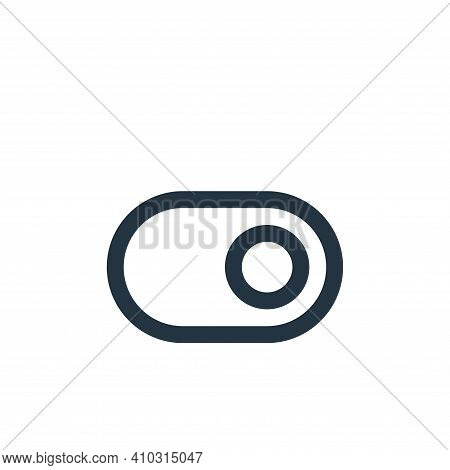 toggle icon isolated on white background from user interface collection. toggle icon thin line outli