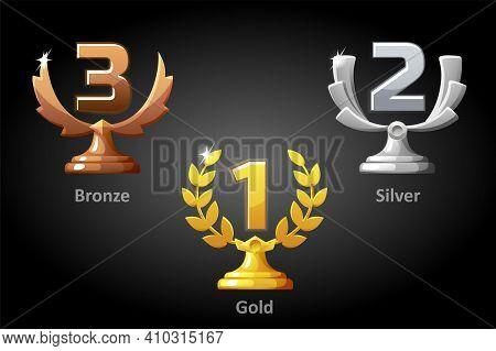 Gold, Silver, Bronze Awards For The Winner.