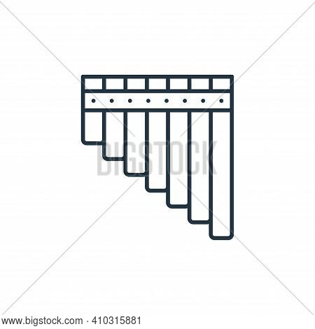pan flute icon isolated on white background from music instruments collection. pan flute icon thin l