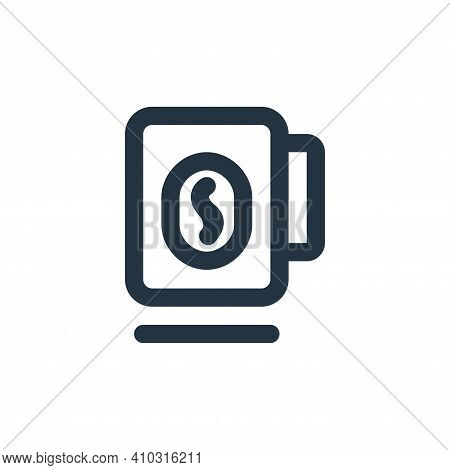 mug icon isolated on white background from coffee collection. mug icon thin line outline linear mug