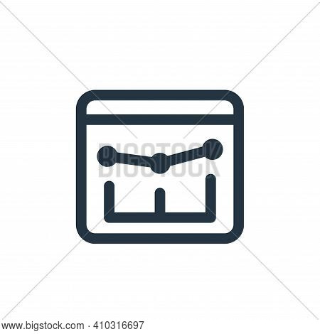 line chart icon isolated on white background from web apps seo collection. line chart icon thin line