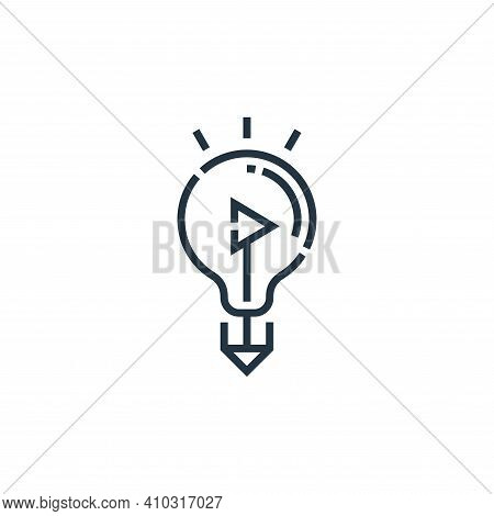 idea icon isolated on white background from videoblogger collection. idea icon thin line outline lin
