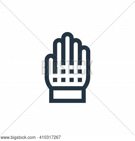 grooming glove icon isolated on white background from pet shop collection. grooming glove icon thin