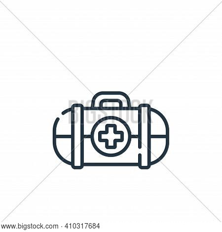 first aid icon isolated on white background from videogame collection. first aid icon thin line outl