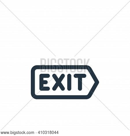 exit icon isolated on white background from emergencies collection. exit icon thin line outline line