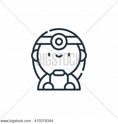 doctor icon isolated on white background from labour day collection. doctor icon thin line outline l